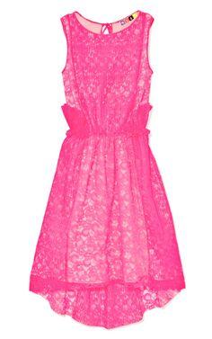 DESIGNER: MSGM  SEE DETAILS HERE:Micro Lace Plissé Dress