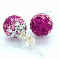 Rubylight Quartz 18k Gold Plated 925 Sterling Silver Stud Earrings Screw Back