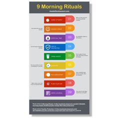 9 Morning Rituals Infographic -