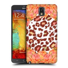 Head Case Designs Rosy Leopard Vintage Floral and Animal Prints Design for Samsung Galaxy Note 3 N9000 N9002 N9005