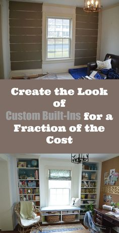 Create the look of custom built-ins for a fraction of the cost (Diy Bookshelf Bench) Billy Ikea, Ikea Billy Bookcase, Ikea Shelves, Bookshelf Bench, Built In Bookcase, Bookshelf Ideas, Building Bookshelves, Bookshelf Storage, Shelving