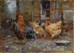 Frederick McCubbin - Chickens, 1901