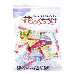 A Kasugai classic. Hard creamy milk candy with a hint of plum. Beautiful individual wrappers, approximately 21 pieces per bag.