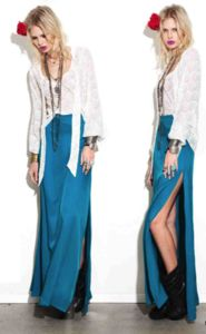 For Love & Lemons Mi Amore Maxi Skirt -  love this