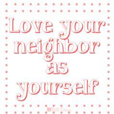 love your neighbor as yourself galatians 514