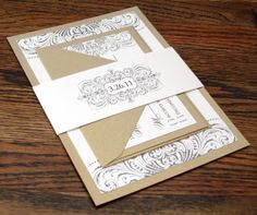Vintage Swirl Flourish Wedding Invitation Suite by drippingwithink, $5.00    These are so much prettier in person! And the owner of the company Brooke is such a pleasure to work with. Needless to say these are my invites and I love them! :)