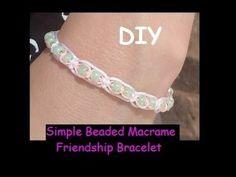 Overlapping Knots Beaded Macrame Bracelet with Adjustable Fastening - YouTube