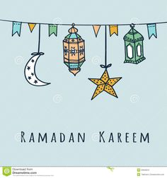 Arabic Lanterns, Flags, Moon And Stars, Ramadan Illustration Stock Vector - Illustration of garland, decorative: 53649241 Eid Crafts, Ramadan Crafts, Ramadan Decorations, Ramadan Activities, Eid Mubarak Greetings, Ramadan Mubarak, Ramadan Poster, Ramadan Lantern, Ramadan Kareem Vector