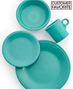 Fiesta 4-Piece Place Setting - Casual Dinnerware - turquoise