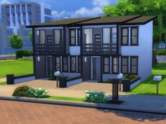 The Sims Resource: Boardwalk Modern Lot - Double by CherryNellie • Sims 4 Downloads