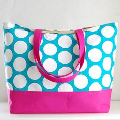 Rosa Chili XL Extra Large Beach Bag / BIG Tote Bag - Ready to Ship ...