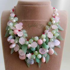 Купить Весна! КОЛЬЕ Серебро. Резные камни. Серебряное ожерелье Necklace - колье интернет магазин