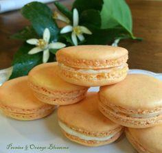 Peonies and Orange Blossoms: Orange Blossom Macarons Recipe like Laduree