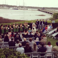 Real Wedding: Celebrations Catering & Events. Windows on the Waterway #wecelebrateyou #hhi