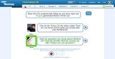 """Busuu.com (Premium): eine Rolle im Dialog zum Thema """"Wilde Tiere"""" (Deutschkurs, B2) aufnehmen und anderen Busuu-Mitglieder korregieren bzw. kommentieren lassen."""