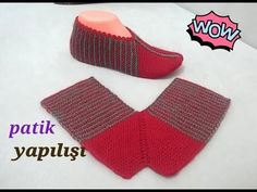 Easy booties model with two skewers / easy female booties model / booties making Loom Knitting, Knitting Socks, Baby Knitting, Crochet Baby, Knit Crochet, Knitted Booties, Knitted Slippers, Knitting Patterns, Crochet Patterns