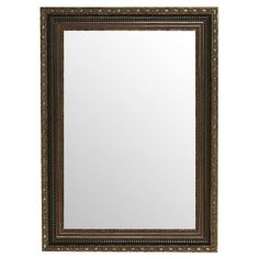Found it at Wayfair - Traditional Rectangular Wall Mirror in Brown