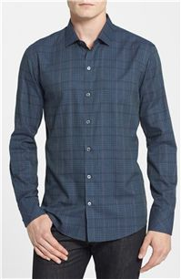 Zachary Prell - Mead Standard Fit Plaid Sport Shirt: It can be worn for a sophisticated look with dark grey wool pants or with dark wash jeans for a more casual look – we are always fans of shirts with versatility.