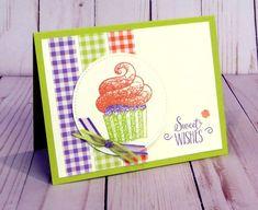 Stampin' Up! Hello Cupcake stamp set coordinates with Call Me Cupcake dies, 2019 SAB Birthday Greetings, Birthday Cards, Birthday Sayings, Sister Birthday, Birthday Images, Diy Birthday, Card Making Inspiration, Making Ideas, Kids Cards