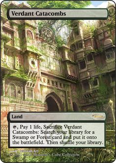 Magic The Gathering Verdant Catacombs Proxy