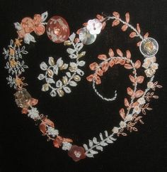 I ❤ embroidery . . . Beautiful and Delicate Embroidered Heart 1
