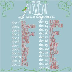 ☆ Advent of Instagram, photo a day challenge December
