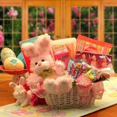 This adorable Blue Bunny Easter Gift Basket is filled with lots of fun stuff for kids! Toys and Games will make this Easter very Memorable!