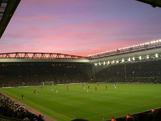 Anfield, home of Liverpool Football Club