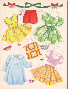 Bonnets and Bows: A Paper Doll Book, 1960 Saalfield #4431 (8 of 12)