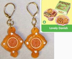 Orange Danish (Rement) Earrings