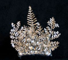 Winter Queen Crown  Mini Silver Hair Comb by MariePoutine85, $15.00