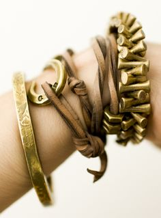 How to layer jewelry and stack your bracelets for a cool boho flair.