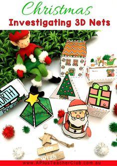 Christmas Math Printables For Kids Christmas Books For Kids, Christmas Tree And Santa, Christmas Math, Christmas Activities For Kids, Christmas Printables, Christmas Themes, 3d Shapes, Math Activities, Snowmen