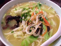 Living in Sin: Marutama Ra-men - chicken broth noodles at Liang Court - this is the veggie one