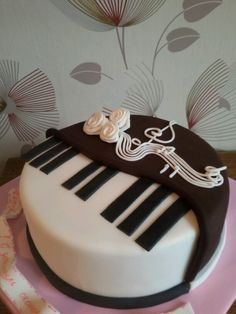one tier music cakes for adults - Google Search