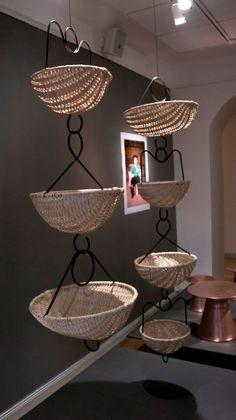 Hazel baskets, Mesteshukar ButiQ Stockholm Design, Wood Crafts, Baskets, Weaving, Ceiling Lights, Interior, Home Decor, Trends, Decoration Home