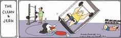 Gym rats will find this hilarious!!  I've often wondered if they could do that??  :)Rhymes With Orange | by Hilary Price