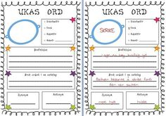 This is a great tool to get students think about Norwegian vocabulary and practice those weekly words. For the younger students I will make a big A. Teacher Pay Teachers, Teacher Resources, Reading Words, Different Quotes, Too Cool For School, Teaching Reading, Teacher Newsletter, Vocabulary, Language