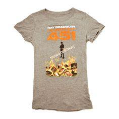Fahrenheit 451 Tee Women's, $12, now featured on Fab.