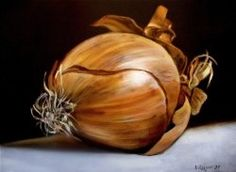 Golden Onion how to oil paint