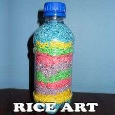 Rice Art is just as fun as Sand Art just without all the mess!