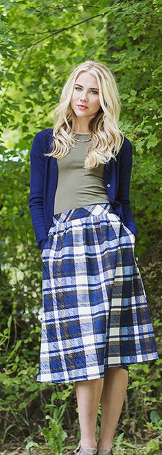 Plaid Skirt [MSF3902] - $44.99 : Mikarose Boutique, Reinventing Modesty