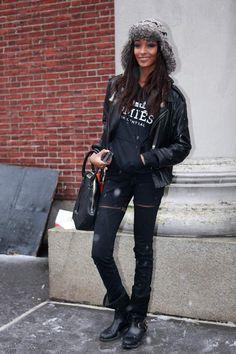 Models Off Duty tops contra el frío: Jourdan Dunn | Galería de fotos 14 de 25 | Vogue