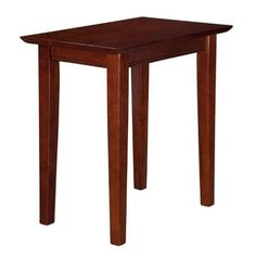 Atlantic Furniture Shaker Chair Side Table in Walnut (Brown)