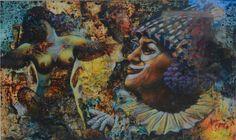 Dolna code: SKS002  Clown fantasy by Sanjay Kumar Srivastav. Acrylic on paper, 20 x 12 (inches), INR 80,000.