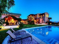 Beautiful backyard and home.