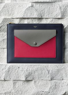 accf257d9aac POCKET CLUTCH WITH FLAP IN FUSHIA SMOOTH CALFSKIN 26 X 18 CM (10 X 7