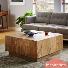 West Elm's Plank Coffee Table - DIY it!