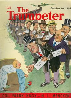 Magazine History: A Collector's Blog: The Last of the Illustrated Political Satire Magazines. The Trumpeter. 1936