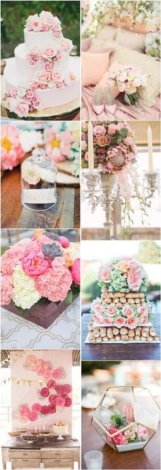 spring summer pink wedding color ideas